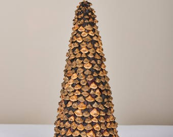 Pine cones Christmas tree, Natural decor, Rustic, Chrsistmas centerpiece, Pine cones decor