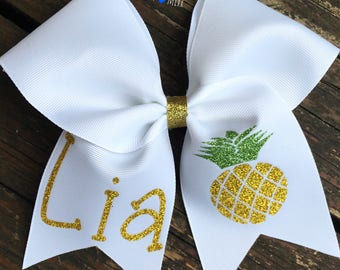 Personalized pineapple bow