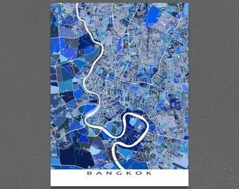 Bangkok Map Print, Bangkok Thailand, Bangkok Print, City Maps