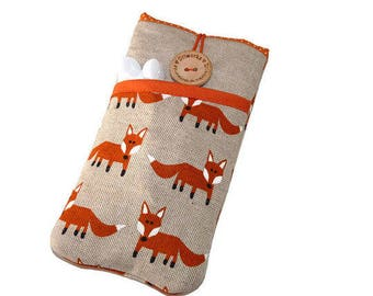 OnePlus 3T sleeve,  OnePlus X sleeve, OnePlus One pouch, Protective OnePlus 2 case,  OnePlus 3T case, Oneplus one case, padded Pouch, Fox