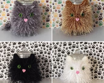 Cat Treat Jar - Cat Cookie Jar - Purrfect - Funny Cat Birthday - Crazy Cat Ladies - Cat Dad - Cat Daddy - Fluffy Cat - Crazy Cat Guy