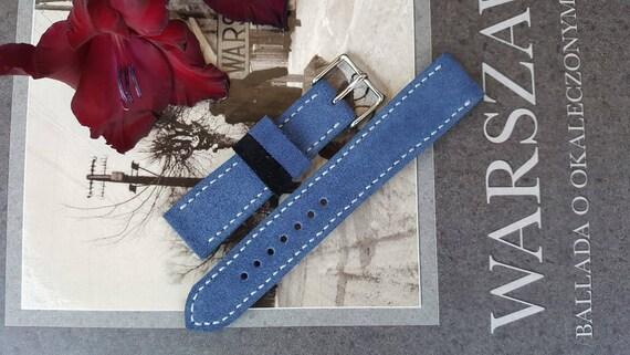 Italian Suede Watch Strap - Handmade 03