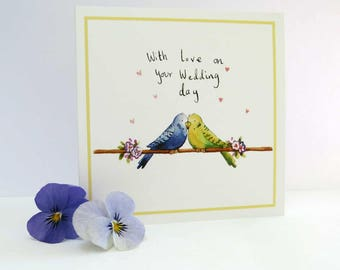 WC03 | Love Birds Wedding Card