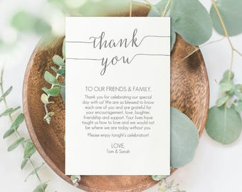 Gray Thank You Card Printable - DIY PDF Template - Instant Download - Wedding Thank You card - Charcoal Grey - 4x6 inches - #GD1009