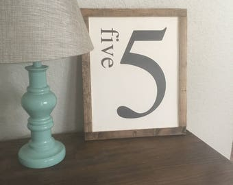 Farmhouse Number Sign
