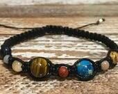 Solar System Bracelet / Healing Crystal Bracelet / Planet Bracelet / Space Bracelet / Chakra Bracelet