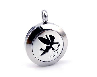 Tinkerbell fairy Essential Oil Diffuser Necklace