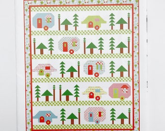 "Trailerville Pattern by Seriously, i Think it Needs Stitches Kelli Fannin- Finished Size 72"" x 86"""
