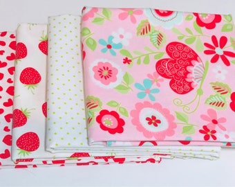 1/2 Yard Bundle Butterflies and Berries by Riley Blake Designers- 4 Fabrics