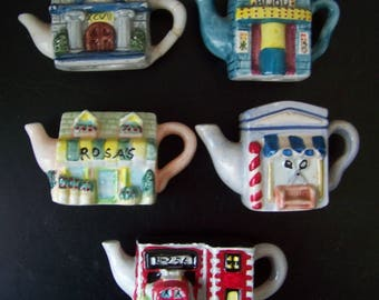 1997 Red Rose Tea Teapot - Roseville Buildings Collectibles