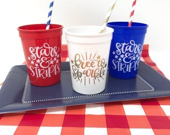 4th of July Stadium Cups - choose between 3 designs
