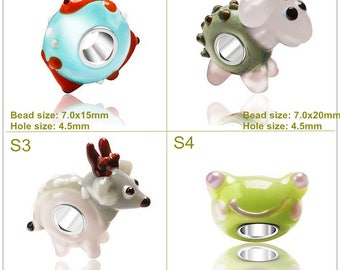 Chubby sheep glass beads