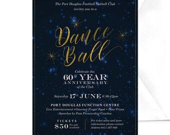 Charity Fundraiser Invitation Corporate Party Invitation