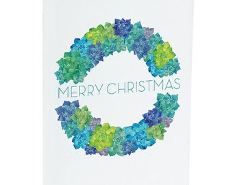 Merry Christmas Succulent - A6 Greeting Card
