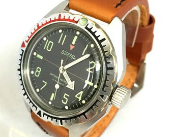 """Authentic  """"VOSTOK AMPHIBIA"""" Military gent's  watch. Vintage Soviet Military Diving watch.Great condition ! Great gift for him"""