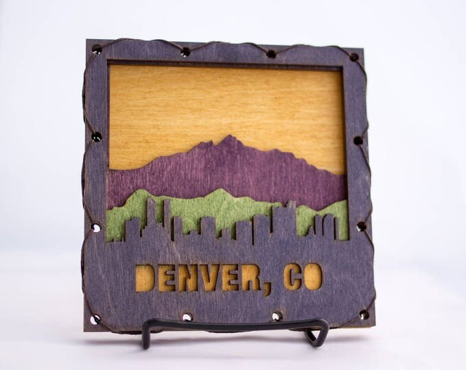 Denver Skyline Wood Decor
