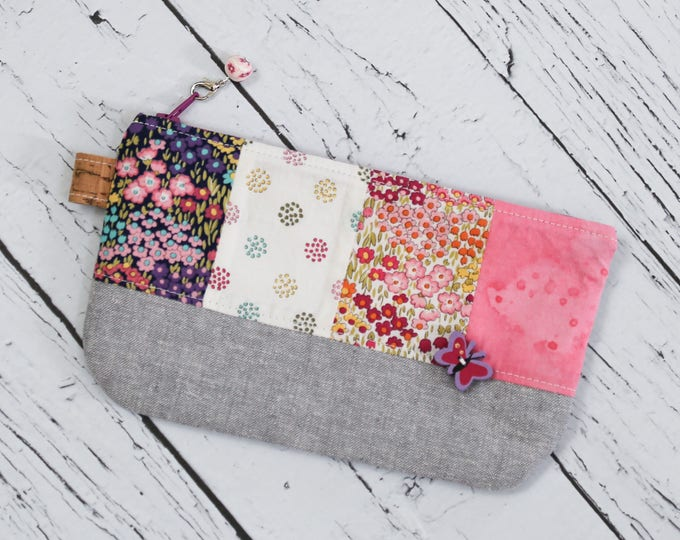 Featured listing image: Patchwork Pencil Pouch - Pretty in Pink
