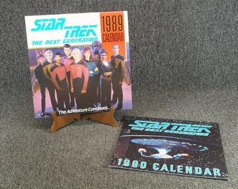 Star Trek TNG Calendars 1989 & 1990