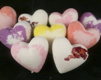Heart Bath Bombs | Valentine's Day Bath Bombs | Choose Your Scent