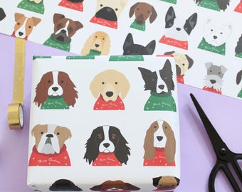 Christmas dogs  wrapping paper, christmas jumpers
