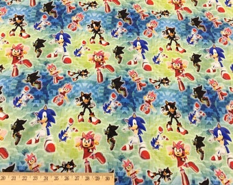 custom printed cotton knit fabric,Sonic FCM54 - 1 meter