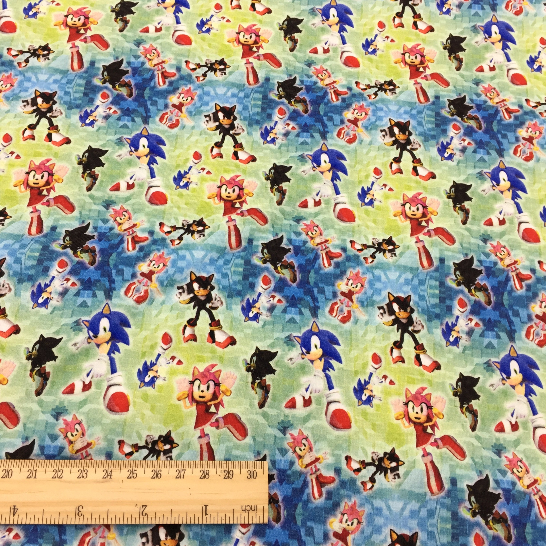 Custom Printed Cotton Knit Fabric Sonic Fcm54 1 Meter