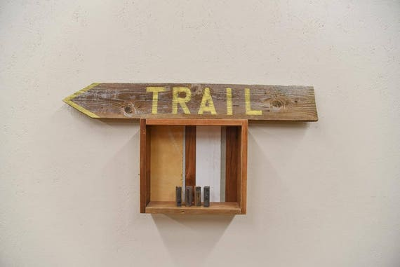 Hand painted 'Trail' barn wood sign, farmhouse chic, rustic decor, barnwood sign, housewarming gift, home sweet home, gift for her, handmade