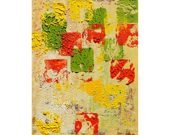 Oil abstract art.11x14in;29x36cm.oil painting on canvas panel-Oh My-wall art;modern gift;needs frame;colorful;home decor;impasto; happy art