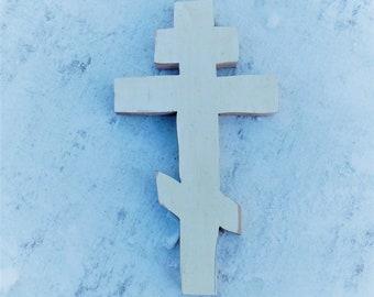 Greek Cross, Russian Cross, Christian Decor, Byzantine Cross, Orthodox Cross, Ukranian Cross Wooden Wall Cross Boho Cross, Decorative Cross