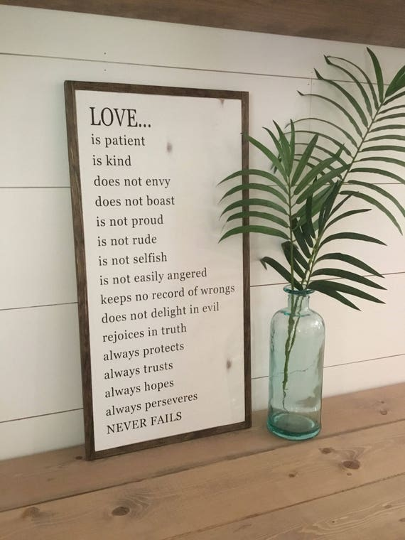 LOVE IS ... 1'X2' | distressed wall decor | painted shabby chic wall plaque | farmhouse sign | scripture wall art |
