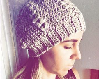Crochet Hat Pattern, Beanie pattern, Crochet beanie pattern, women's hat pattern, instant download, crochet slouchy hat pattern
