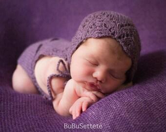 Bonnet Rosy Size Newborn-6/12 months photography props