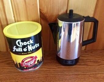 Coffee Percolator - Electric Coffee Percolator - Electric Coffee Maker - West Bend Coffee Maker - Percolator - Vintage Coffee Maker
