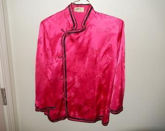 Asian Hot Pink Jacket - Measurements Below