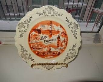 Vintage San Francisco Decorative Plate