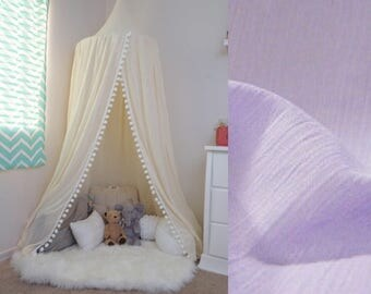 Pompom Play canopy in lavender/ hanging tent/ reading nook canopy/hanging canopy & Play Canopy - TucsonTeepee --- Adventure Awaits