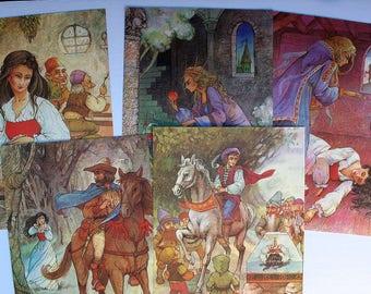 vintage Snow White and the Seven Dwarves prints