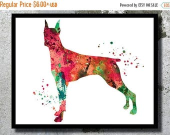 SUMMER SALE Doberman Watercolor Doberman Pinscher Watercolor Art Print Dog Doberman Poster Dog Wall Decor Doberman painting Nursery Decor Ch