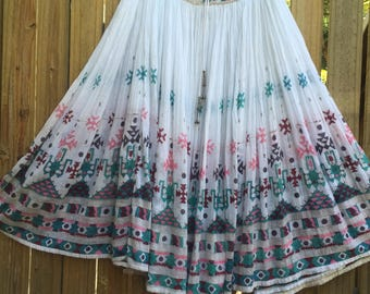 Vintage 70's Indian Indian gauze dress skirt