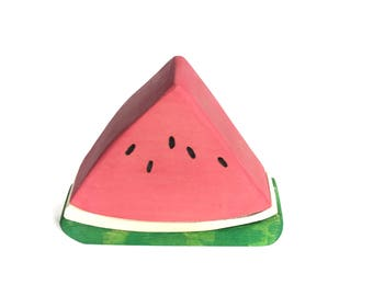 Watermelon Slice Wood Toy Stacker