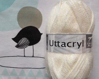 Natural wool UTTACRYL - white horse
