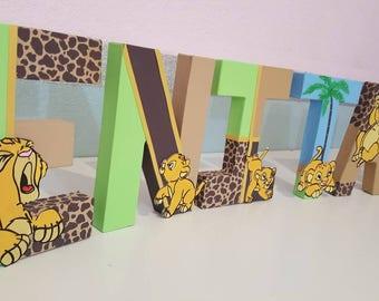 Lion King Nursery letters