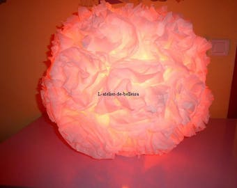 Hanging ball Chinese flower in white tissue paper
