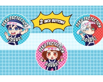 BNHA】Deku Protection Squad Buttons