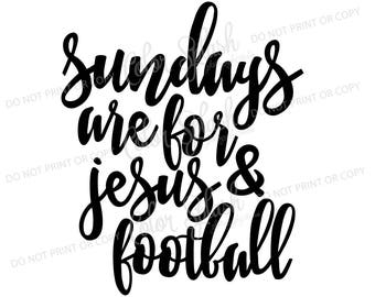 Sundays are for Jesus and football, fall, autumn svg, dxf, png, eps cutting file, silhouette cameo, cuttable, clipart