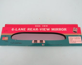 Vintage 6 Lane Rear View Mirror New Old Stock Free Shipping