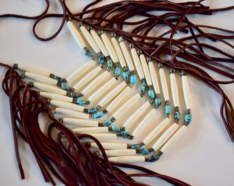 BEAUTIFUL Native American Inspired Breastplate Necklace