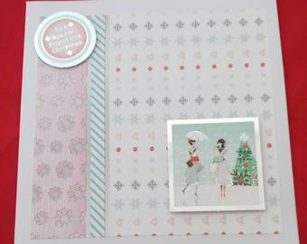 To A Special Friend This Christmas, Card For Christmas, Friends Xmas Cards, Best Friend Card, Girls Festive Card, Papercraft Seasonal Card