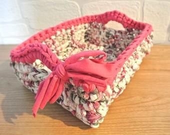 "Rectangular basket ""tidy"", violet"