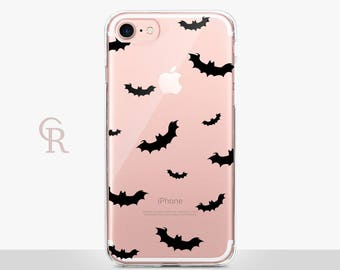 Bats Clear iPhone 7 Case - Clear Case - For iPhone 8 - iPhone X - iPhone 7 Plus - iPhone 6 - iPhone 6S - iPhone SE Transparent Samsung S8